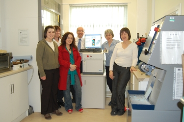 Tameside & Glossop PCT Podiatrists with Sara Boardman (second from right)